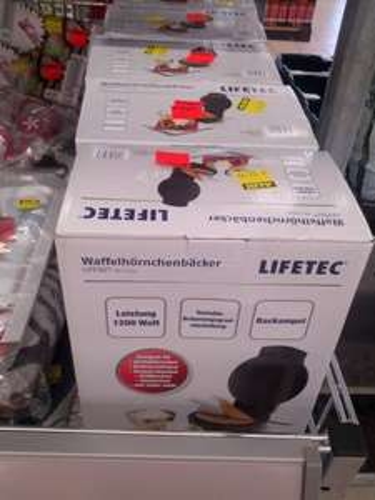 [LOKAL Aldi Nord Taucha] Lifetec MD 13211 Waffelhörnchenbäcker