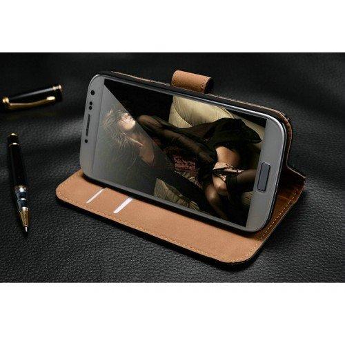 Echtleder Flip Cover für Iphone 5, Samsung S4 und HTC One in verschiedenen Farben