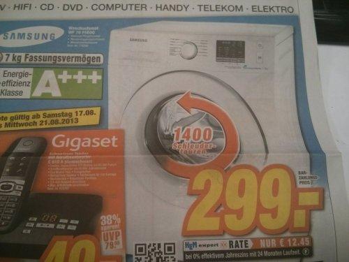 Samsung WF70F5E0Q4W Waschmaschine A+++ 299 € HEM Expert Wiesloch