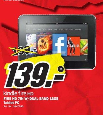 [Lokal] Media Markt Dietzenbach  Kindle Fire HD 16GB für 139€ und 32GB für 159€