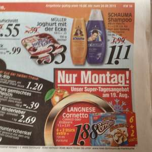 Langnese Cornetto, 6+2, Rewe Bundesweit am 19. August