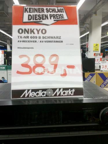 Onkyo TX-NR 609 Lokalangebot Media Markt Bochum Neueröffnung