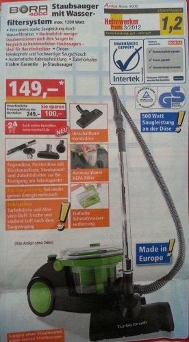Aspira Home Bora 4000 Staubsauger mit Wasserfiltersystem für 149€