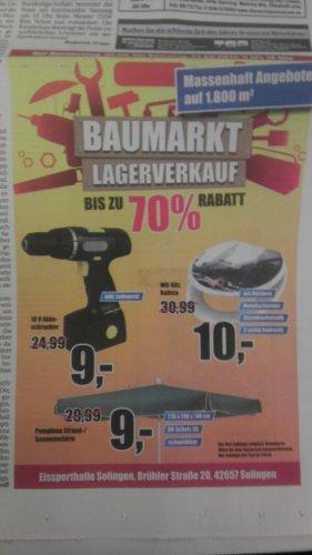 (Solingen) Baumarkt Lagerverkauf 22.8 - 24.8