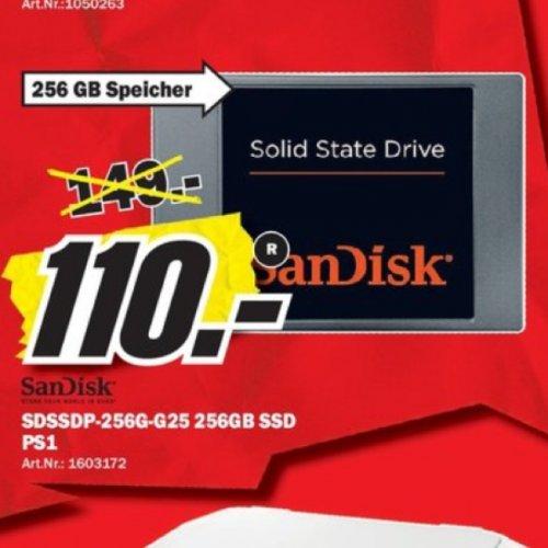SanDisk SDSSDP-256G-G25 interne SSD-Festplatte 256GB @MM Peißen-Halle
