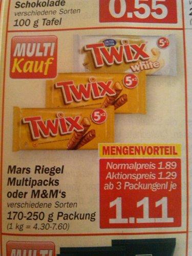 HIT: Twix White 5er Pack ab 3 Stück für je 1,11€