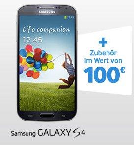 Starterkit (2 Flipcover, KFZ-Ladegerät, NFC Tags) gratis bei Kauf eines Samsung S4, S4 Mini oder eines S4 Active
