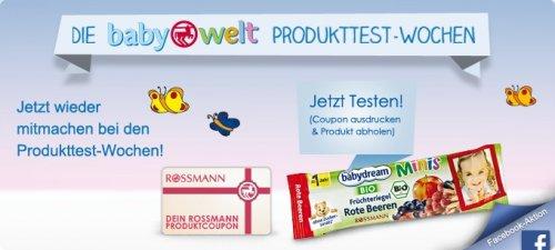 Facebook-Gewinnspiel Rossmann-Produkttester BIO Babydream Früchteriegel