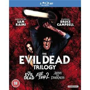 Blu-ray Box - The Evil Dead Trilogy (3 Discs) für €23,88 [@Base.com]