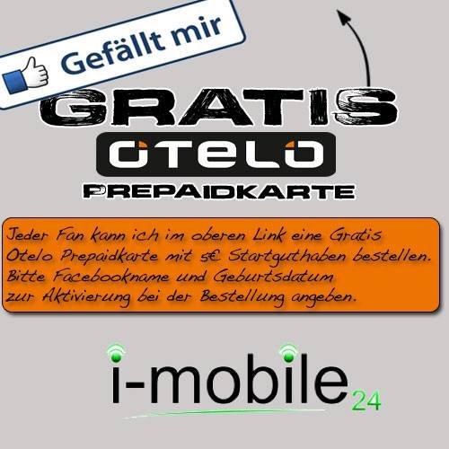 Gratis Otelo Prepaidkarte mit 5€ Guthaben für die Fans @Facebook