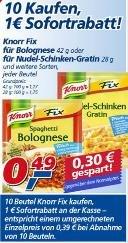 10 Knorr Fix Produkte beim Real für 0,39€ je Packung