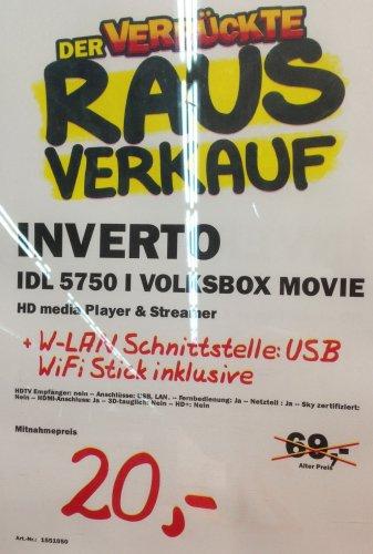 [Lokal Mediamarkt München Haidhausen Einsteinstr] Volksbox Movie IDL 5750i Mediaplayer + WLAN Stick