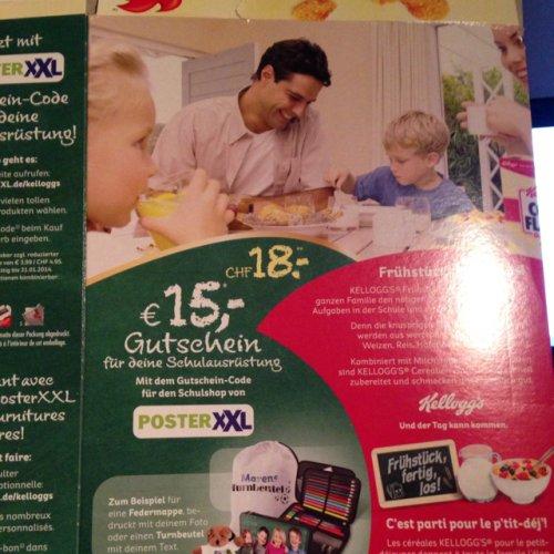 Poster XXL ( 60x40cm ) Leinwand für 17,85euro mit Kellogs Gutschein und kostenlosem Versand