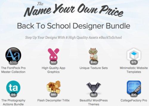 Back to School Designer Bundle mit bis zu 8 Tools / Apps zum selbst bestimmten Preis