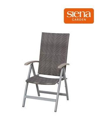 Siena Garden Klappsessel Medira, washed grey 25,03 %Rabatt