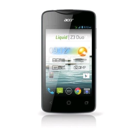 Acer Liquid Z3 Dual SIM schwarz [Android 4.2.2, Dual Core 1,0 GHz, 512MB RAM) - 5€ QIPU