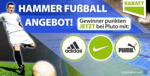 Auf die gesamte Fußballkollektion bis zu 70%  für z.B. Adidas, Nike und Puma! @ Plutosports