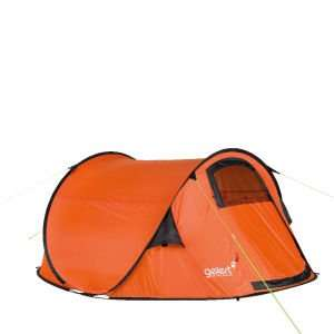 3 - personen Wurfzelt Gelert Quickpitch DLX Tent - Red Orange
