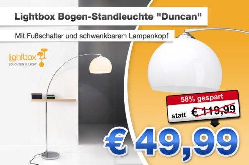 """Die hat den Bogen raus: Die stilvolle Standleuchte """"Duncan"""" sorgt für gezielte Beleuchtung - jetzt für nur 49,99 statt 119,99 €"""