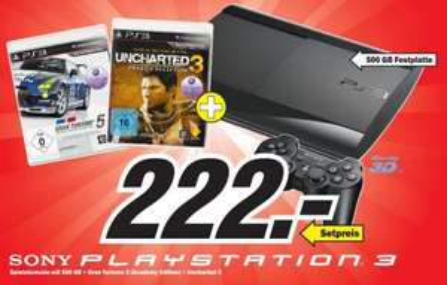 [MM] Playstation 3 500GB Bundle (Gran Turismo 5 + Uncharted 3)  [wohl nur lokal in Köln]