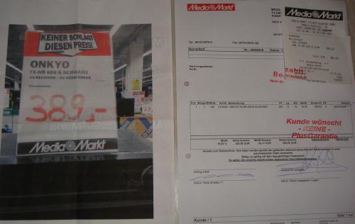 Onkyo TX-NR 609 für 389€ bei Media Markt deutschlandweit