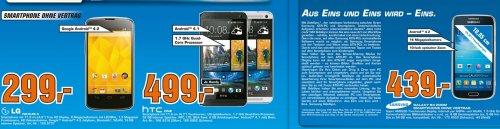 [Lokal] Saturn Berlin: Nexus 4 für 299 Euro, HTC One 499 Euro (schwarz oder silber), Galaxy S4 Zoom 390 Euro (weiß), Galaxy S4 Zoom 439 Euro (schwarz)