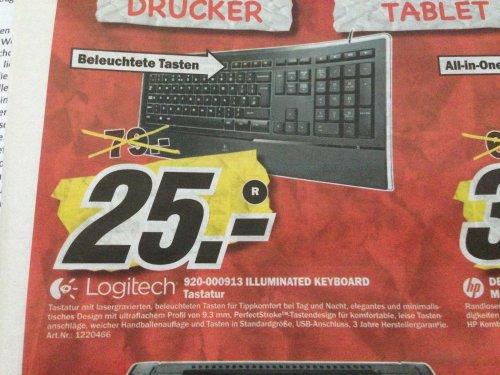 [Lokal MM Porta Westfalica] Logitech Illuminated Keyboard 25€