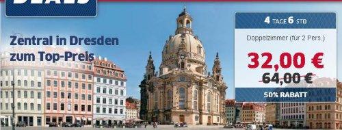 3 Tage Dresden im sehr guten,zentral gelegenen 3* Hotel für 32€ p.P.