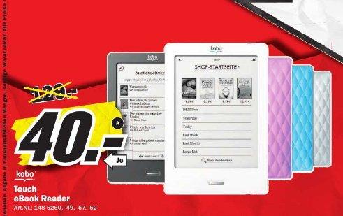 [ Media Markt Sulzbach ] Kobo Touch E-Reader 40€