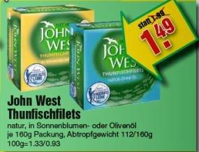 John West Thunfischfilets für 1,49€ statt 1,99€ bei Marktkauf