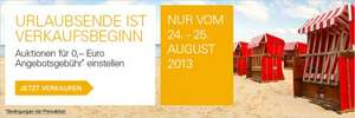 eBay: Angebotsgebühr am Wochenende sparen (24./25. August) (ggf. nur eingeladene Mitglieder)