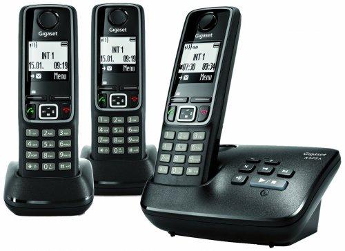 Gigaset A420 A Trio Schnurlostelefon mit Anrufbeantworter (DECT/GAP) schwarz für 41,34€ inkl. Versand @ Amazon.uk