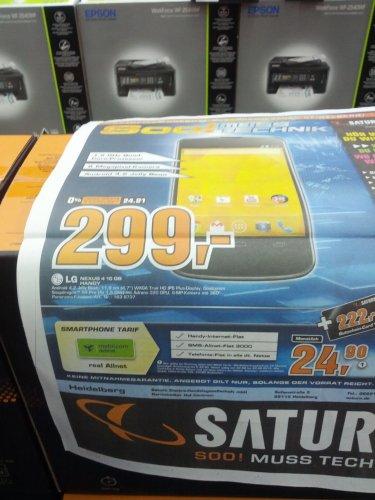 Lokal: Saturn Heidelberg - Nexus 4 16GB 299€
