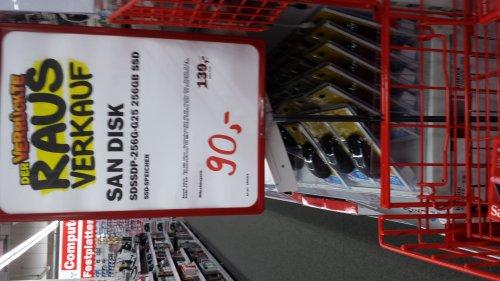 (Lokal MM Dorsten )  SanDisk 256GB SSD für 90 Euro.