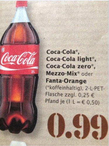 [Marktkauf Südwest] Coca Cola 2 Liter für 0.99 Euro