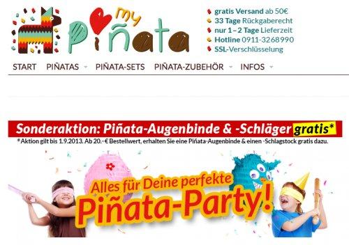 Piñata-Maske und Schläger gratis zur Bestellung ab 20€ bei MY-PIÑATA.de