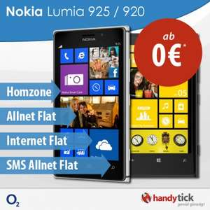 o2 Blue All In S + Nokia Lumia 925 16GB = 509,75 €