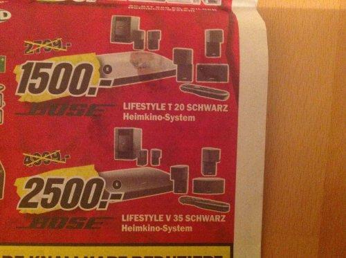 (Lokal) Bose Lifestyle T20 oder V35@MediaMarkt Erfurt (Versand evtl. möglich)