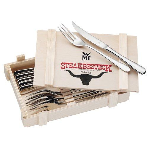 WMF Steakbesteck 12-teilig in Holzkiste für 29,95€ bei Amazon
