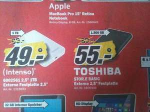 "[Lokal MM Mönchengladbach] Toshiba Stor.E Basics 1.500GB USB 3.0 2,5"""