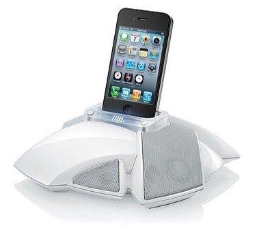 JBL iPhone/iPod-Lautsprecherdock On Stage IV, weiß (qipu: -EUR 3,58, mögliche Ersparnis: 42,7%, idealo.de: EUR 71,98)
