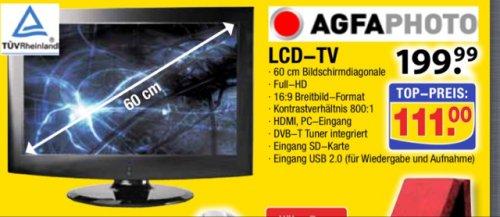 """[offline] 23,6"""" LCD-TV von Agfaphoto beim Center Shop"""