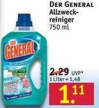 Rossmann: Der General für 1,11€ / 4mal für 0,02€ oder 12mal für -1,10€