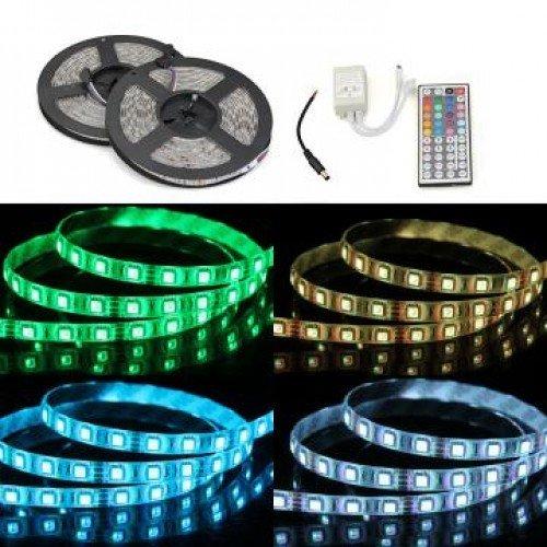 2x 5m wasserdichte LED Lichterkette/Stripe RGB inkl. Trafo & Fernbedienung