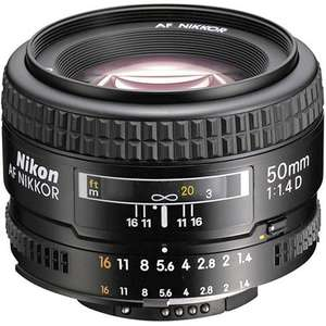 [Amazon UK] Nikon AF Nikkor 50mm 1:1,4D Objektiv