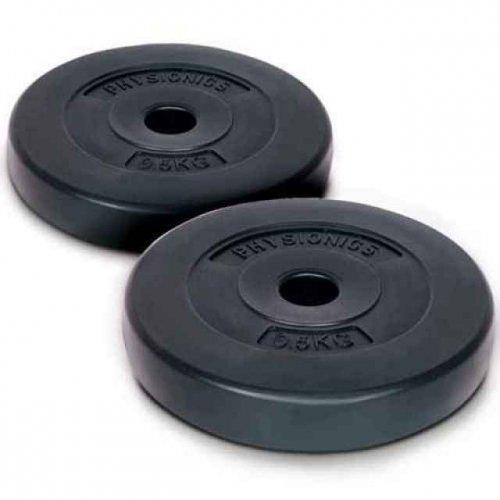 2x 0,5 kg Gewichtscheiben für Hanteln