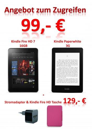 [lokal] Medimax Magdeburg Flora-Park Kindle Fire HD 16GB/Paperwhite 3G für 99,-