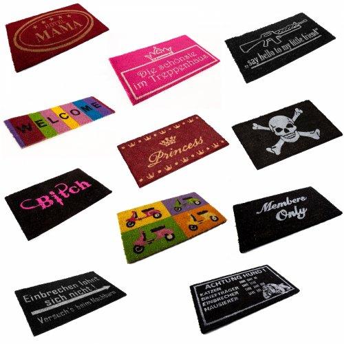 Stylische Motiv - Fußmatten mit verschiedenen Aufdrucken für 9,95 EUR inklu. VSK bei ebay WOW Angeboten