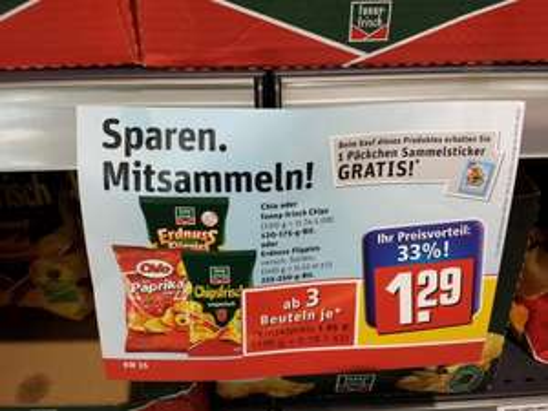 Chio Chips / Funnyfrisch bei Rewe - 3 Beutel zum Preis von 2, Ersparnis 33,3%
