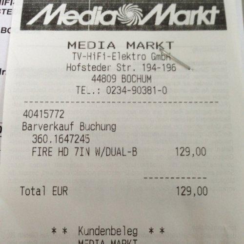 (LOKAL) Kindle Fire HD 16GB Media Markt Bochum Hofstede